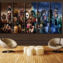 $enCountryForm.capitalKeyWord NZ - Modern Wall Art Printed Landscape Canvas Poster 5 Piece Horror Movie Characters Group Painting Frames Home Decor Pictures PENGDA Y18102209