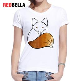 f489502c Women's Tee Redbella Ins Geek Women Clothing Fox Pattern Printed Hipster Funny  Harajuku Kawaii Design Tumblr Tshirt Casual Camisas Femininas
