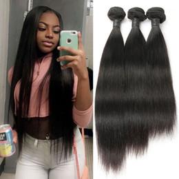 Discount virgin mongolian straight human hair bundles - 10A Great Quality Human Hair Weave Straight 3 Bundles Lot Cheap Brazilian Hair Peruvian Malaysian Indian Virgin Hair Wef