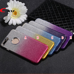 $enCountryForm.capitalKeyWord NZ - Metal Button Bling Glitter Sticker Soft TPU Case For Iphone X XS 8 7 6 6S Plus OPPO R11 R9S R9 Plus Shiny Dual Color Jelly Skin Cover Luxury