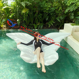 $enCountryForm.capitalKeyWord NZ - Wing Shape White Gold Inflatable Bulefly Pool Maress Float Inflatable Lounge Swimming Pool Swimming Ring