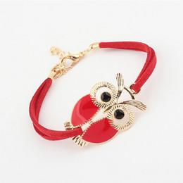 $enCountryForm.capitalKeyWord NZ - 2018 Korean Fashion Owl Bracelets Bangles Pulseiras Ummer Vintage Lovely Style Woman Girl Jewelry Gift