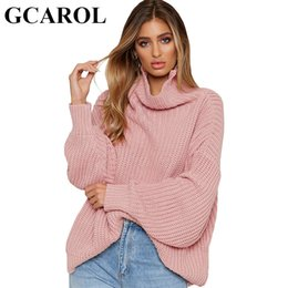 wholesale Women Casual Turtleneck Knitted Sweaters Autumn Winter Loose  Oversize Pullover Elegant Tops Knitwear Jumper For Ladies 27d2efdf0