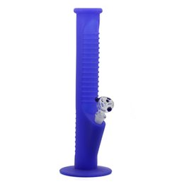 Big Silicone Bong Australia - Silicone Hookah Pipe Big Blue High 135 MM Portable Water Pipe Bongs Shisha Pipe With Glass Smoke Pan