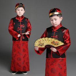 $enCountryForm.capitalKeyWord Australia - Children's Ancient Costume Qing Dynasty Traditional Chinese Dance Costumes for Boy Girls Hanfu Dress Princess Landlord Suit