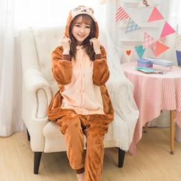 Pajamas For Couples Canada - Coffee Brown Monkey Kengurumi Onesie Adult  Pyjamas Animal Womens Pajamas Pijama ef73da916