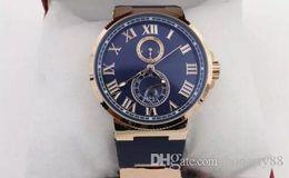$enCountryForm.capitalKeyWord NZ - Luxury watch Hot seller Hot Sale UN Auto watch Blue Dial Gold Case Suisse Rubber Band Glass Back 40mm Mechanical watch
