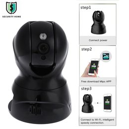 hd 3d mini camera Canada - 826X 3D Intelligent Noise Reduction Night Vision Remote Control Encryption Bidirectional Language Mini 2.0MP HD Cloud IP Camera