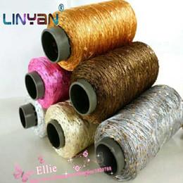 400g * 1 pièces flash cordon fil de soie à tricoter fils à paillettes fil à broder à tricoter à la main fil à coudre zl4132