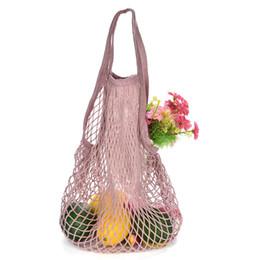 Turtle Bags Wholesale UK - 150pcs lot New Mesh Net Turtle Bag String Shopping Bag Reusable Fruit Storage Handbag Totes Women Shopping Mesh Shopper
