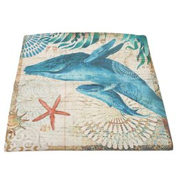 Textile Dyeing UK - New Arrival Sea Animal Printing Pillow Case 45x44cm Simple Linen Pillow Cover Home Decorating Modern Home Textile Living 971395