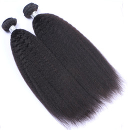 Brazilian Kinky Curly Braiding Hair UK - Cheap #1B hair weft kinky straight hair extensions brazilian curly human hair for braiding black women