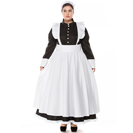 3ae6dfe434 Plus Size Mardi Gras Costumes UK - Classic Black And White French Apron  Maid Cosplay Dress