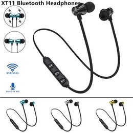 $enCountryForm.capitalKeyWord Australia - XT11 wireless BT4.2 magnetic inear headset stereo sports headphones with build-in mic for iPhone Samsung LG smartphones