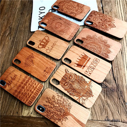 $enCountryForm.capitalKeyWord NZ - 2 ini 1 for iphone X 8plus 7 6splus phone case wood Back Cover Hard PC Back Shell Embossed Relief Datura flower The tree
