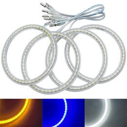 blue ring headlights 2019 - 4Pcs Set Auto SMD Angel Eyes Light Halo Ring For Lada VAZ 2110 2112 Headlight Lamp #1251