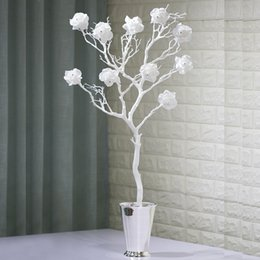 $enCountryForm.capitalKeyWord NZ - Artificial Rose Flowers Paste diamonds White Coral Decorative Dried Tree Branch for Wedding Party Shopping Mall Decorative Props