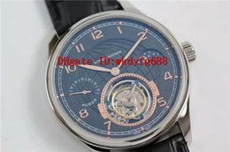Luxury Display Cases NZ - Luxury New Portuguese Moonphase real Tourbillon Hand-winding 44mm men watch Sapphire Crystal coating Power Reserve Display Transparent case