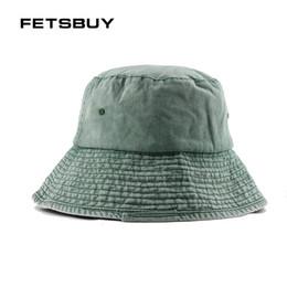 6e6dd99536d FETSBUY Brand Men Women Bucket Hat Caps Summer Autumn Fisherman High  Quality Cotton Simple Hats Folding Outdoor Fishing Cap