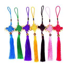 chinese knot tassels 2019 - Multi-Color Auspicious Chinese Knot Tassel High-Grade Car handbag Pendant Jewelry Decoration 26CM DIY Accessory Hot LX41