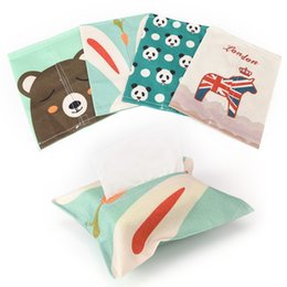 napkin box cover Australia - New cloth art Tissue Boxes sitting room household Table Decoration & Accessories car toilet paper napkins Tissue cover