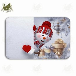 $enCountryForm.capitalKeyWord NZ - Vixm Curious Snowman Looking Outside Holding A Blank Banner Welcome Door Mat Rugs Flannel Anti-slip Entrance Indoor Kitchen Bath Carpet
