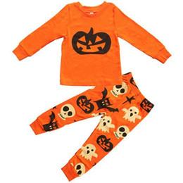 Pumpkin Suit Costumes Australia - Baby Girls Boys Clothing Sets Autumn Toddler Pajamas Suit Pumpkin Halloween Costume Children Pjs Sets Kids Clothing
