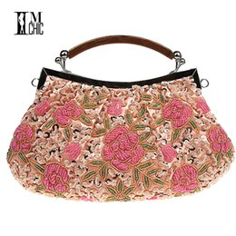 Embroidery Beaded Women Clutch Bag Vintage Flower Sequins Evening Party Handbags  Wedding Bridal Tote Bags Handmade Women Bag Y1890401 4a90a024b7277