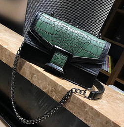 $enCountryForm.capitalKeyWord Canada - wholesale brand handbag fashion crocodile chain bag trend hit Color Leather Shoulder Messenger Bag all-match crocodile leather Crossbody Bag