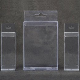 clear small plastic packaging NZ - 10pcs Clear plastic gift box with hang hole Small pvc transparent packaging box for jewellery toys Wedding favors candy box