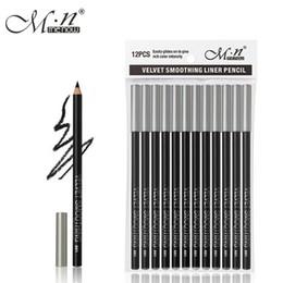 $enCountryForm.capitalKeyWord Canada - 12pcs set M.n Menow Eyeliner Pencil Waterproof Eyebrow Beauty Pen Eye liner Pencil all black P127 DHL 48Set