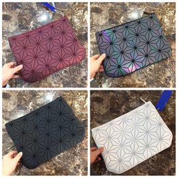Box clutches online shopping - Colorful Geometry Diamond Clutch Bags Large Capacity PU Bags colors Women Lady Kids Purse Makeup Outdoor Bag AAA661