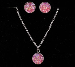 Wholesale Druzy Drusy Necklace Earrings Jewelry Set Necklaces Best for Lady New York Brand Jewelry