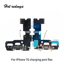 iphone wifi connector Australia - Original Charging Port Flex For iphone 7 7G Charger Data USB Dock Connector with Headphone Audio Jack Mic Antenna Antena wifi Cable