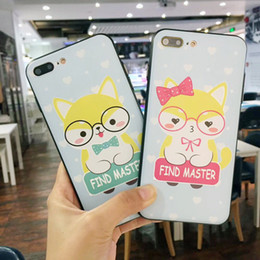 $enCountryForm.capitalKeyWord NZ - For Iphone X Phone Cases Cute Cartoon Shiba Dog Plating Embossed Silicone Scrub Cell Phone Case For Iphone 6 7 8 Plus