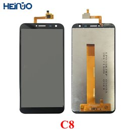 Touch Digitizer Glass Screen Assembly Australia - LCD Glass Panel C8 LCD Tela For Oukitel C8 Display Touch Screen Screen Digitizer Assembly Repair Ekran Parts+Tools+Adhesive