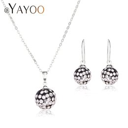 wedding costume jewelry dubai UK - AYAYOO Wedding Fashion African Beads Jewelry Set Bridal Women Dubai Jewelry Sets For Vintage Costume
