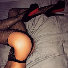 Venta al por mayor de Lencería sexy Mujeres Productos Eróticos Sexuales Calientes Club Bling Brillo Sobre Rodilla Bota Larga Calcetines de Mujer Muslo Alta Rodilla Larga Larga