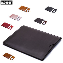 laptop leather sleeves 2018 - Jacodel PU 15.6 Laptop Bag for Xiaomi Notebook pro 15.6 Case Microfiber Leather Laptop Sleeve bag for Xiaomi pro Noteboo