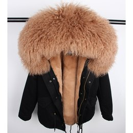 $enCountryForm.capitalKeyWord Canada - 2018 Winter Real Fur Coat Jacket Women Natural Real Mongolia Sheep Fur Collar Liner Thick Warm Casual Detachable Outerwear New