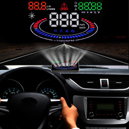 """Car Heads Up Display NZ - Kust 5.5"""" Universal Car HUD Head Up Display OBD II OBD2 Projector Speedometer MPH KM h Speed Warning New HUD Head-up Display"""
