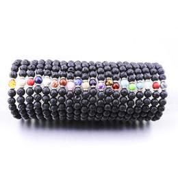 Опт Дешевые 20 цветов 8 мм натуральный черный лавовый камень бусины крест браслет DIY вулкан рок эфирное масло диффузор браслет для женщин мужчин