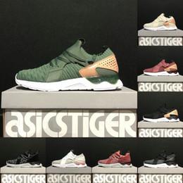 b58a9d68b6 Asics Originals Gel-Lyte V Sanze stricken 5er Top weichen oberen Laufschuhe  Herren Frauen Weizen Farbe Socken Schuhe Discount Sneakers