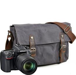 e5e184b8dd89 Waterproof Canvas Shoulder Camera Bag UK - Casual man Photography package waterproof  canvas bag camera bag