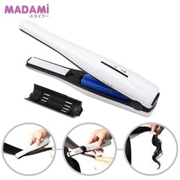 Mini Straightening Irons NZ - Mini Wireless Hair Straighteners Portable USB Charger Straightening Iron 2 in 1 Curl Travel Styling Tools for Bands & Hair Tail