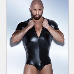 c31d3ff725 Suits Latex Men Australia - Men s Leather Bodysuit Latex Catsuit Men Faux  Leather Gay Men s Clothing