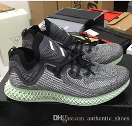 2018 Release Futurecraft Alphaedge 4D LTD Aero Ash Green Core Black Running  Shoes Man Woman Authentic Sneakers With Original Box AC8485 b225eafcb