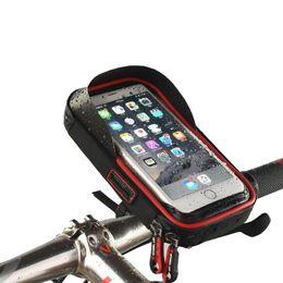 Discount bicycle phone holders waterproof - Touch Screen TPU Waterproof Cycling Bike Bicycle Bag For MTB Mountain Road Bike Cycling Mobile Phone Holder Bag Case