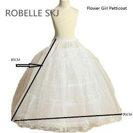 $enCountryForm.capitalKeyWord Australia - Flower Girl Petticoat Children Crinoline Underskirt Slip for Little Girl 80cm Long 3-Hoops High Quality Fast Shipping