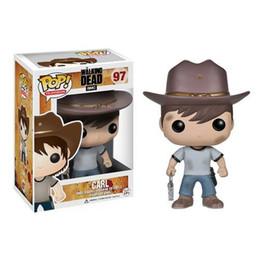 $enCountryForm.capitalKeyWord NZ - Funko POP The Walking Dead Carl Vinyl Action Figure With Box #97 Gift Toy Good Quality